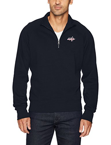 NHL Washington Capitals Men's OTS Fleece 1/4-Zip Pullover, Fall Navy, XX-Large