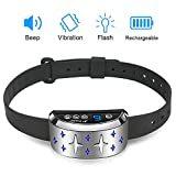 Cheap Dog Bark Collar, Rechargeable Anti-Barking Training Collar,Humane Harmless Beep Vibration No Shock Dog Collar for Small Medium Large Dogs