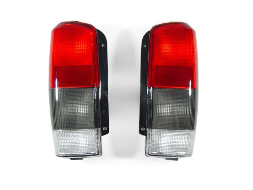 DEPO 1997-2001 Jeep Cherokee XJ Red / Smoke Rear Tail Lights Set (Best Way To Smoke Out Tail Lights)