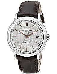 Raymond Weil Mens 2837-SL5-65001 Maestro Analog Display Swiss Automatic Brown Watch