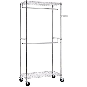 Amazon Com Whitmor Supreme Double Rod Garment Rack