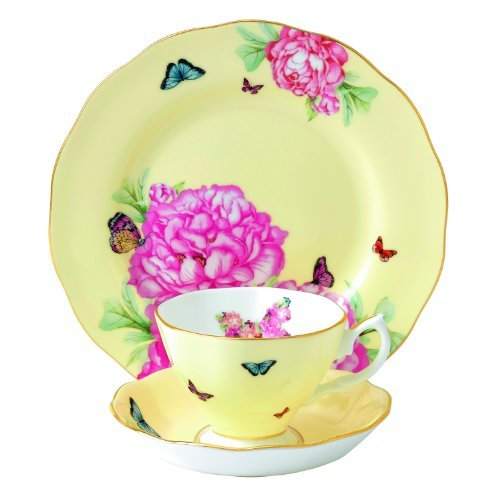 Royal Albert Joy 3-Piece Teacup, Saucer and Plate Set Designed by Miranda Kerr by Royal Albert