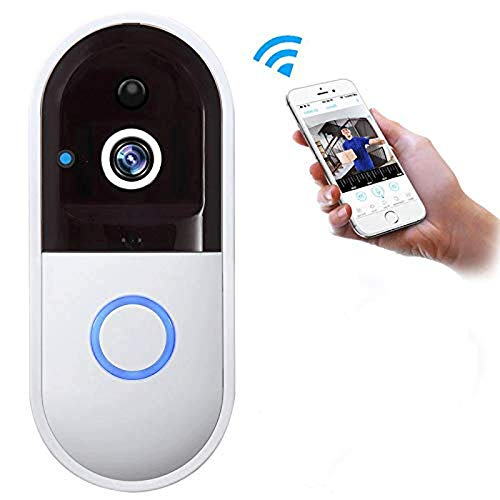 Lcxligang Wireless Video Doorbell, Intercom Monitoring Doorphone System, HD Security Camera with PIR Motion Detection, Two-Way Talk ()
