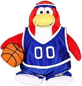 Basketball Club Penguin - Disney Club Penguin 6.5 Inch Series 3 Plush Figure Basketball Player (Includes Coin with Code!) by Jakks Pacific