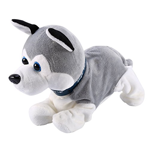 Nice Digital Sound Management Canines Interactive Pet Robotic Pet Canine Bark Stand Stroll Comfortable Toys For Youngsters (Colour:Grey)  Critiques