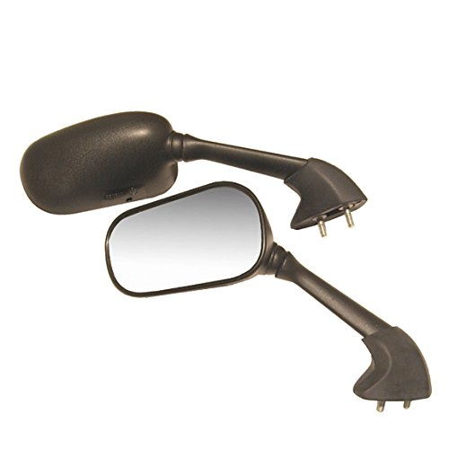 EMGO OEM Replacement Mirror for Yamaha YZF R1 02-03 Left Side Black (20-80532)