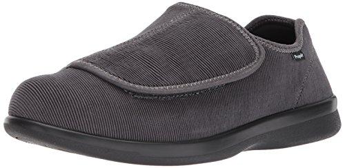 (Propet Men's Cush N Foot Slipper, Slate Corduroy, 11.5 5E US)