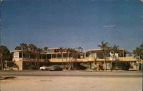 Monterey Court Daytona Beach, Florida Original Vintage Postcard