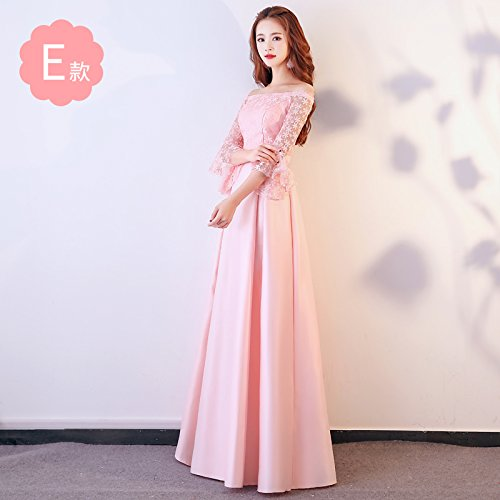 Vestido XIU E Dress Bridesmaid RONG De Fiesta Dress De Noche Mujer Vestido Pink Bridesmaid Vestido ffqY6rw