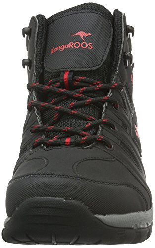 KangaROOS K-Outdoor 8089 - Botas de montaña para hombre Negro - Schwarz (Black/Red 506)