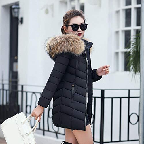 Parka Cappuccio Black Con Xx Zip Dimensione Pelliccia large In Puffer Lungo Moda Piumino Black Donna Da Felpe Frontale Speedmar colore EHvqv