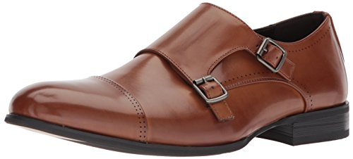 Unlisted by Kenneth Cole Men's EEL Monk-Strap Loafer, Cognac, 7 M US