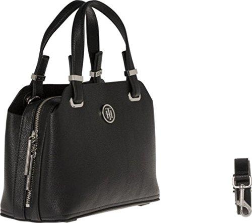 Tommy Hilfiger Damen Handtasche Tasche TH Core M Satchel Schwarz AW0AW05123-002 DiXXc