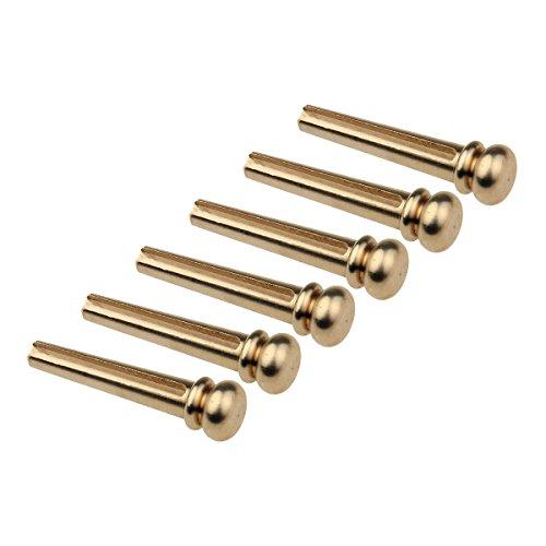 Kmise Z5246H6 6 Piece Brass Acoustic Guitar Bridge Pins (