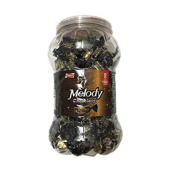 Parle Melody Chocolaty 150+.in 1 Jar 586g Toffee in Jar