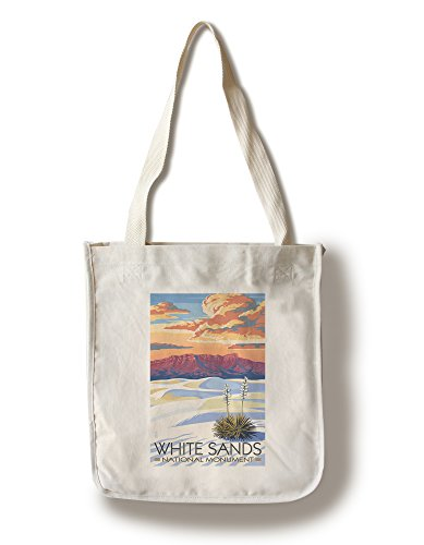 White Sands National Monument  New Mexico   Sunset Scene  100  Cotton Tote Bag   Reusable