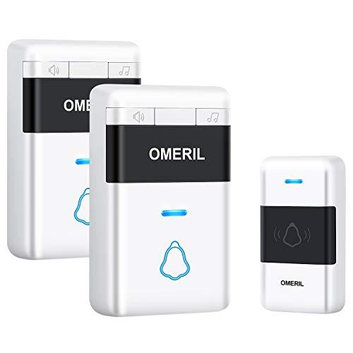 Door Bell, OMERIL Loud Wireless Doorbells with 5...