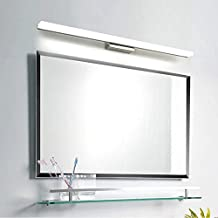 Modern Bathroom Wall Light Mirror Front LED Lighting Waterproof Antifogging Steel+Aluminum+Acrylic (12W 23.62 inch, Cold white)
