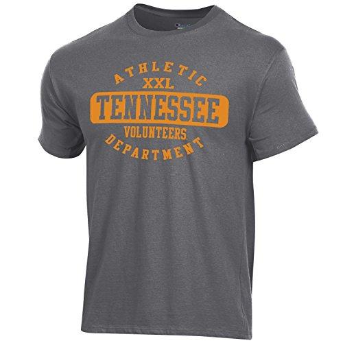 (Champion NCAA Tennessee Volunteers Men's Ringspun Short Sleeve T-Shirt, Granite Heather, X-Large)