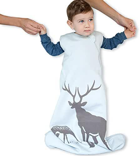 Wee Urban Cozy Basics 4 Season Baby Sleeping Bag, Mist Deer, Med 6-18m