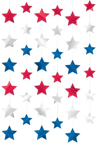 ourth of July Party Patriotic Stars Doorway Curtain Decoration, foil, 7