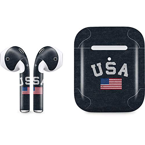 - USA with American Flag Skin for Apple AirPods 2 | Skinit Countries of The World Decal Wrap to Cover AirPods 2 Case and Earbuds - Ultra Thin, Lightweight Vinyl Decal Protection