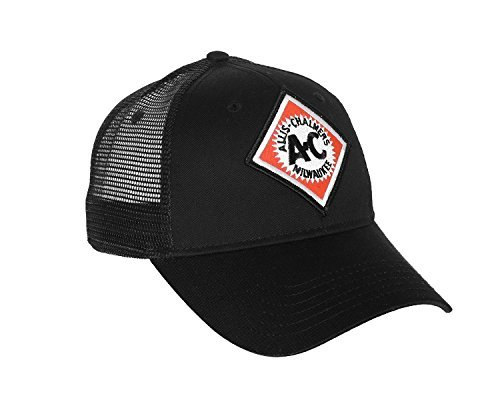 Allis Chalmers Hat with Vintage AC Logo, Black Mesh