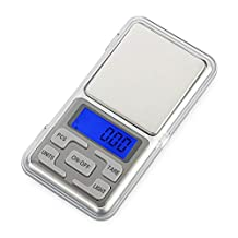 Mini Electronic Digital Scale, Businda Portable LCD Display Pocket Stainless Steel Precision Kitchen Jewelry Scale Gold Diamond Balance Scale Precision Weighing(500g X 0.01g)