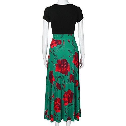 De Para Tamaño Conquro Mini Gran Larga Estampado Vestido Fiesta Noche Pequeño Alta Falda Flores Verde Delgada Mujer Cintura 4qqBtHw
