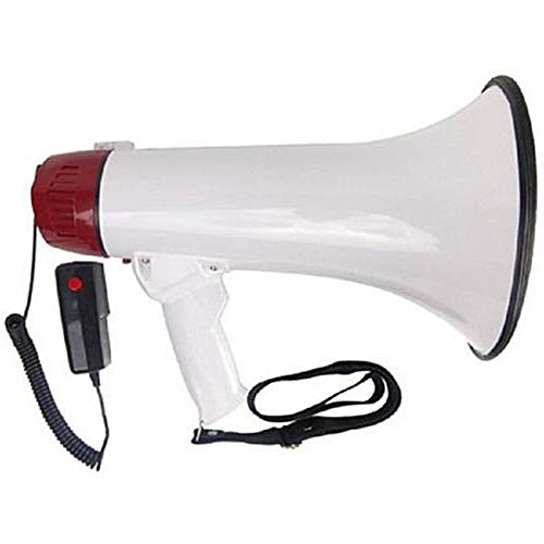 Lapha' 30 Watt Speaker Hand Held Microphone Megaphone Bullhorn Microphone Cheerleading Protest Rally Siren Sport Outdoor