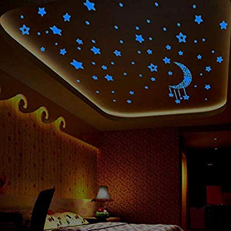 Assyrian Room Decoration A Set Kids Bedroom Fluorescent Glow In The Dark Stars Wall Stickers Pegatina Pared - Wall Stickers ()