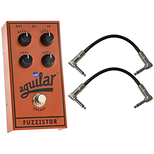 Aguilar Fuzzistor Bass Fuzz Pedal w/ 2 Patch Cables by Aguilar