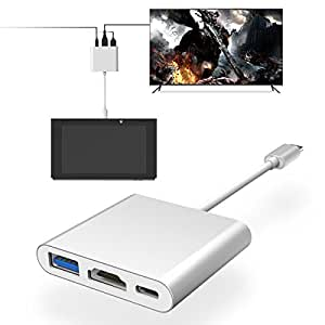 Amazon.com: MYRIANN 1080P HDMI Type-C Adapter Dock for