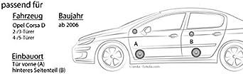 Sxe Complete Car Speaker Set For Vauxhall Opel Corsa D Alpine Front And Rear Elektronik