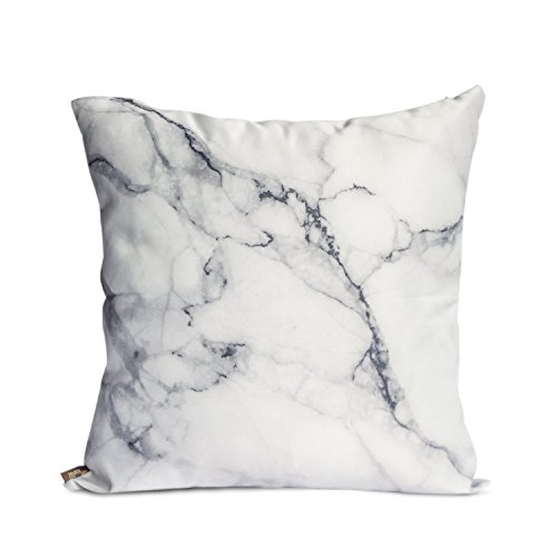 OJIA Luxury Home Decorative Soft Silky Satin Marble Texture Personalized Throw Cushion Cover / Pillow Sham (18 X 18 Inch)