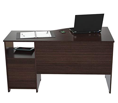 - Inval America ES-2203 Curved Top Desk, Espresso-Wenge/Silver