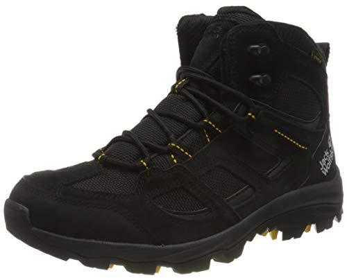 Jack Wolfskin Hombre Vojo 3 Texapore Mid M Outdoor Zapatos, Negro / Burly Yellow Xt, 5.5 UK