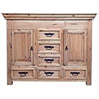 Rustic Small Dresser with Hidden Lockable Gun Chest on Top * Safe * Cabinet *