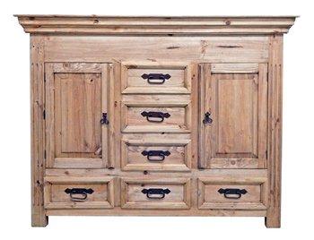 Rustic Small Dresser with Hidden Lockable Gun Chest on Top * Safe * Cabinet *