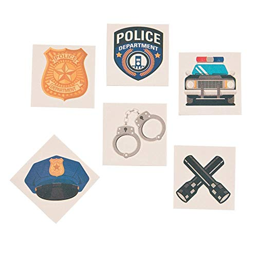 Police Party Tattoos - 72 ct -