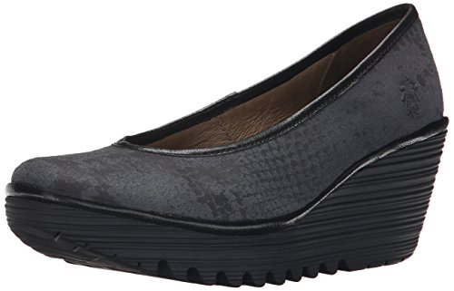 Deep Snake Fly Yalu Black Women's Pump Wedge London x44T7qwvg