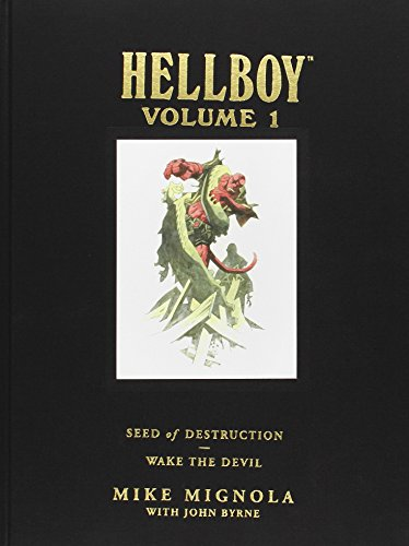 Hellboy Library Edition, Volume 1: Seed of Destruction and Wake the Devil [Mike Mignola] (Tapa Dura)