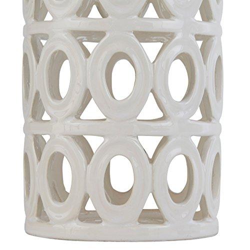 Stone & Beam Ceramic Geometric Table Lamp, 25