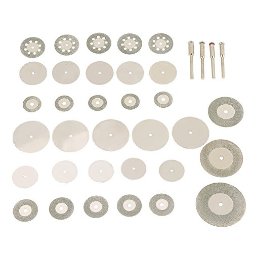 37pcs Diamond Stainless Steel Cutting Disc Saw Blades and Mandrels Set Fit Rotary Tools