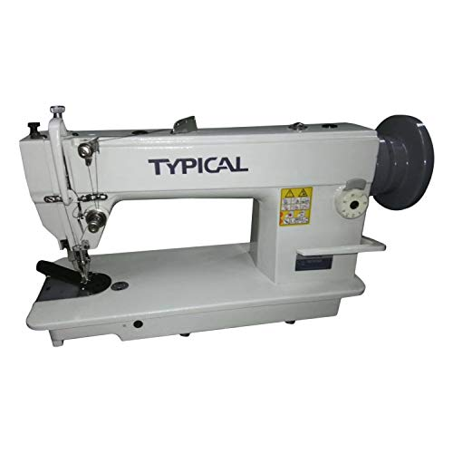 Typical 0302 Walking Foot Sewing Machine Top Bottom Feed Single Needle Lockstitch with Large Hook No Missing Parts Standard Accessories Head Only ()