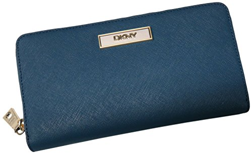 DKNY Saffiano Leather Zip Around Wallet with …