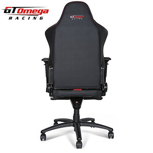 Gt Omega Master Xl Racing Office Chair Black And Red
