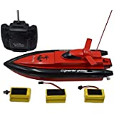 Blomiky F1 11.5 Inch High Speed RC Boat Remote Control Electric Boat Extra 2 Battery 800 Red