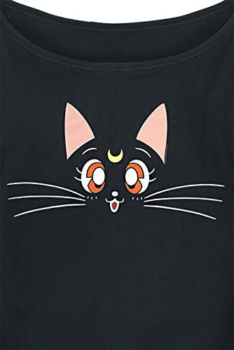 Sailor Moon Luna Girl-Shirt czarny: Odzież