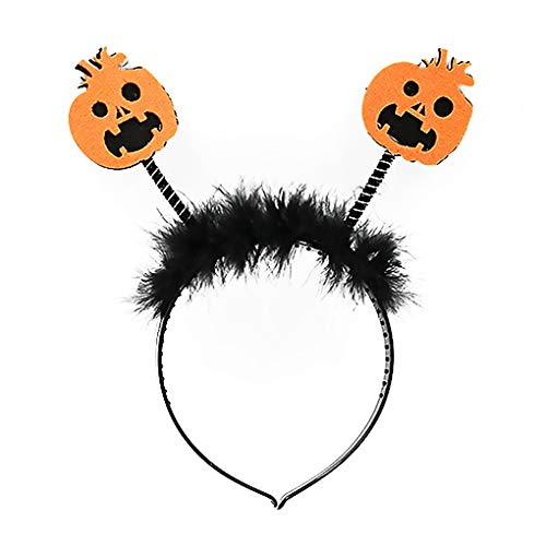 AUWU Pumpkin Ox Horn Hair Band Kids Halloween Headband Costume Party Dress up Decoration Hairband -